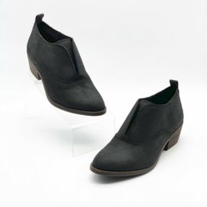 Lucky Brand Leather Fimberly Black Booties 7.5 M
